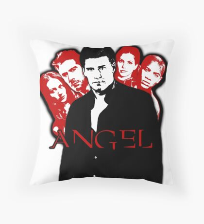 Angel Investigations: Black & Red Throw Pillow