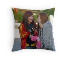 Sharing a laugh. Throw Pillow