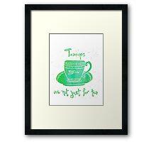 Gin Teacup Framed Print