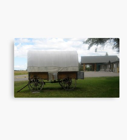 Historic Old Wagon Side View. Canvas Print