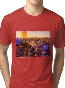 Buenos Aires Colorful Cityscape Tri-blend T-Shirt