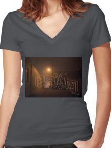 Chisel Dipped Women's Fitted V-Neck T-Shirt