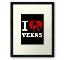 I Heart Texas (White) Framed Print