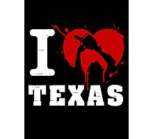 I Heart Texas (White) Photographic Print