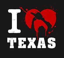I Heart Texas (White) by Gingerbredmanny