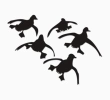 Flying Ducks Landing Hunting Kids Clothes