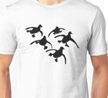 Flying Ducks Landing Hunting Unisex T-Shirt
