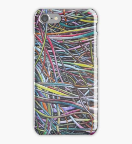 Multi-Colour Wire Art iPhone Case/Skin
