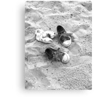 Shoes on the Sand  Canvas Print