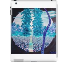 Blue landscape iPad Case/Skin