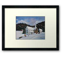 """"""" I'll Be Home for Christmas"""" Framed Print"""