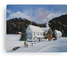 """ I'll Be Home for Christmas"" Canvas Print"