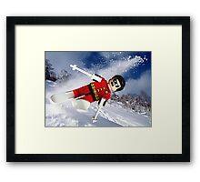 Robin goes wild Framed Print