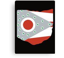 Ohio - State Flag Buckeyes - Black Canvas Print