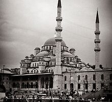 New Mosque, Istanbul - view from Galata Bridge by Lidia D'Opera