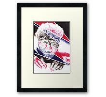 The Wolfman, a ball point pen portrait. Framed Print
