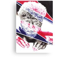 The Wolfman, a ball point pen portrait. Canvas Print