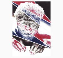 The Wolfman, a ball point pen portrait. T-Shirt
