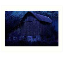 moonlit barn Art Print