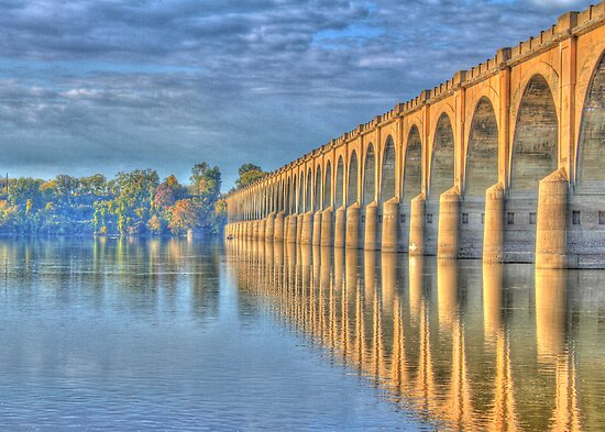 Old Railroad Bridge by Sharon Batdorf
