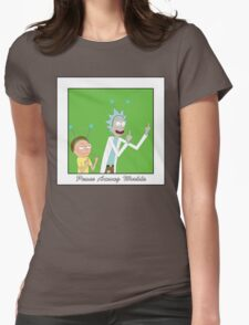 Rick and Morty: Peace Among Worlds Womens Fitted T-Shirt