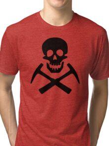 Skull & Cross Pick Hammers Tri-blend T-Shirt