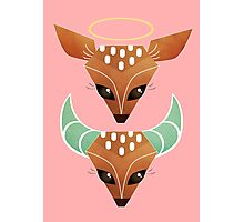 Oh, Deer. Halo or Horns? Photographic Print