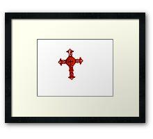 red cross Framed Print