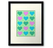 Pixel Heart V.3 Framed Print