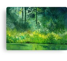 Light n Greens Canvas Print