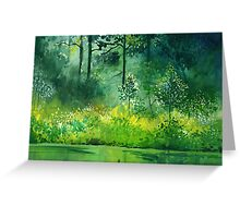 Light n Greens Greeting Card
