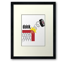 Funny Hockey Framed Print