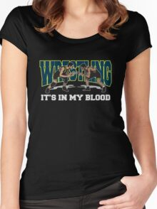 Wrestling It's In My Blood Women's Fitted Scoop T-Shirt