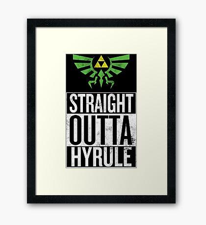 Straight Outta Hyrule V3 Framed Print