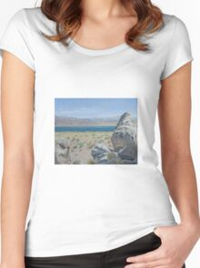 Pyramid Lake Plein Air Study Women's Fitted Scoop T-Shirt