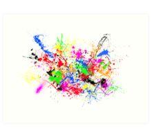 Paint Splats Art Print