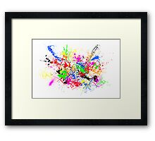 Paint Splats Framed Print