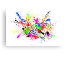 Paint Splats Canvas Print