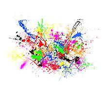 Paint Splats Photographic Print