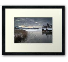 Winter Boathouses Framed Print