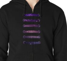 laced up galaxy Zipped Hoodie