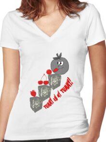 T-Shirt- 71 Women's Fitted V-Neck T-Shirt