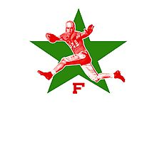 vintage football Photographic Print