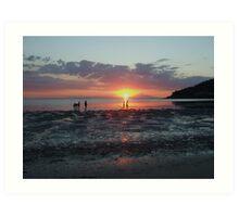 Cristo rei beach, Dili, Timor-Leste by Richard Jones Art Print
