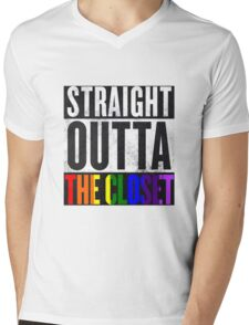 Straight Outta The Closet Mens V-Neck T-Shirt