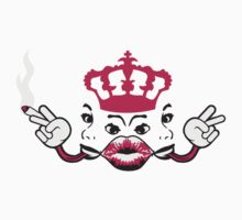 woman hot horny girl joint crown faces Mouth Lips by Style-O-Mat