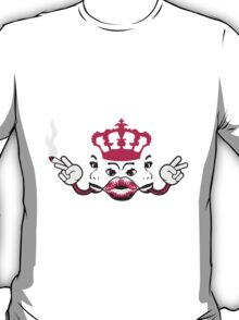 woman hot horny girl joint crown faces Mouth Lips T-Shirt