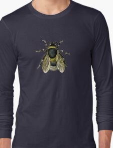 antique typographic vintage honey bee Long Sleeve T-Shirt
