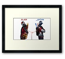 League of Legends SKT1 Zed / TPA Shen HQ Framed Print