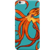 Orange Octopus iPhone Case/Skin